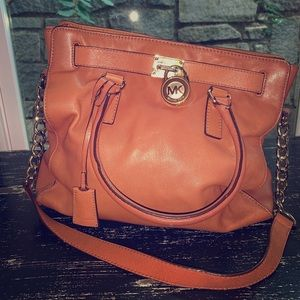 Michael Kors Tan Leather 'Hamilton' Satchel/Tote